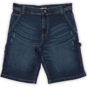 Tommy Hilfiger Blue Casual Solid Cotton Lycra Blend Short