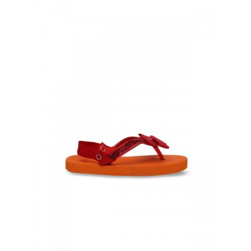 DChica Girls Orange & Red Thong Flip Flops