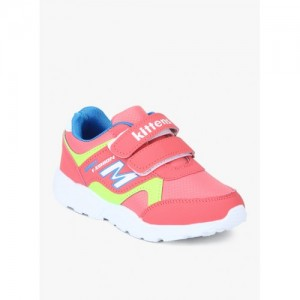 Kittens Pink Synthetic Leather Sneakers