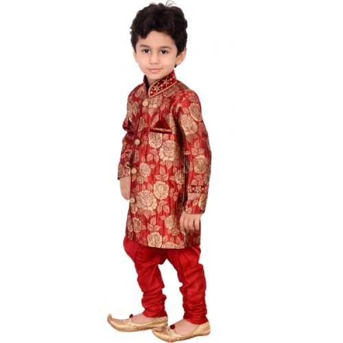 Arshia Fashions Boys Festive & Party Sherwani and Churidar Set