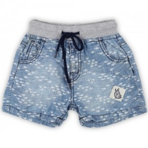 Gini & Jony Blue Casual Printed Cotton Short For Boy's