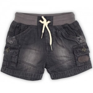 Gini & Jony Brown Casual Solid Cotton Short For Boy's