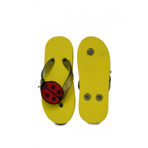 DChica Girls Yellow & Red Solid Slip-On