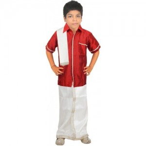FTC Bazar Boy's Festive & Party Kurta, Dhoti Pant & Dupatta Set