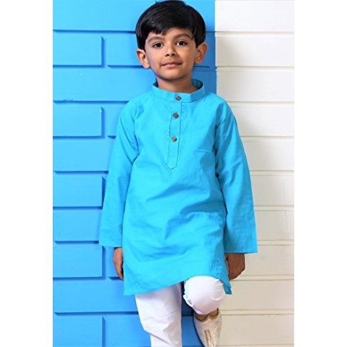 1c01e06495 ... Littly Handloom Ethnic Wear Kids Embroidered Cotton Kurta Pyjama Set  For Baby Boys ...