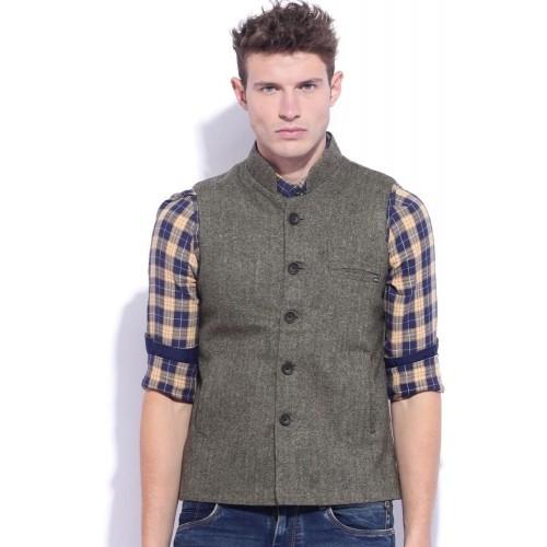 8b2febecbf6c7e Buy Duke Sleeveless Solid Men s Tweed Sleeveless Jacket online ...
