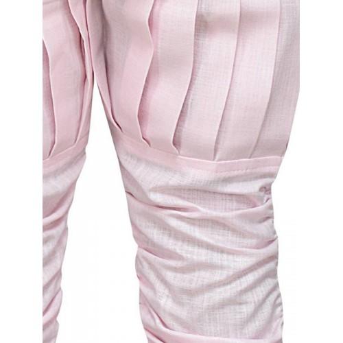 Aj DEZInES Boys Pink Solid Kurta Set