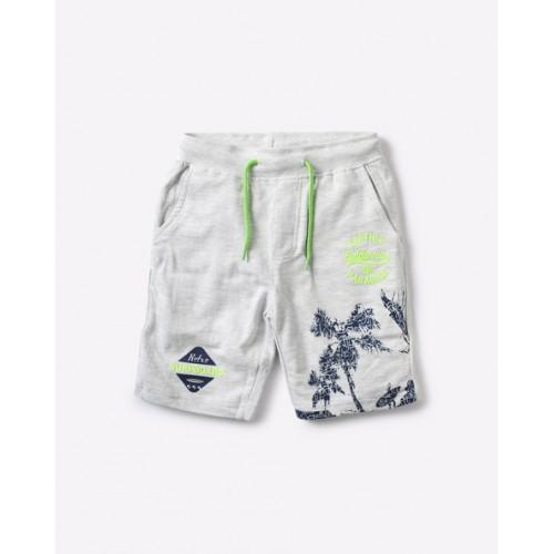 YB DNMX Printed Shorts with Drawstring Waist