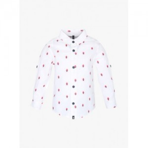 UNITED COLORS OF BENETTON Printed Shirt with Roll-Tab Sleeves