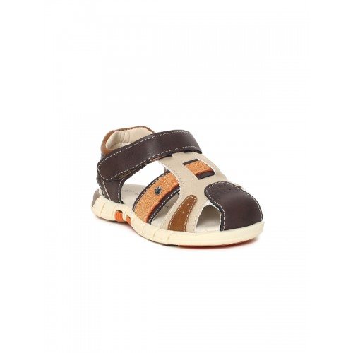 Fame Forever by Lifestyle Boys Brown & Beige Fisherman Sandals