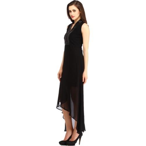 Cottinfab Women's Black Dress