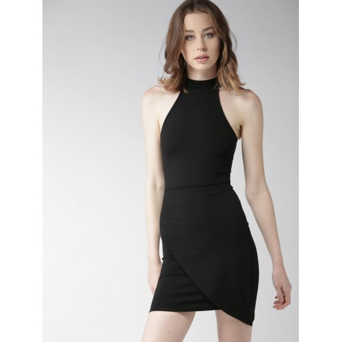 1a633802072 Buy FOREVER 21 Women Black Solid Layered Bodycon Dress online ...