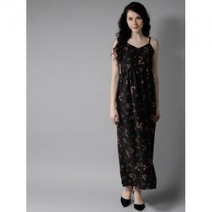 32abfea2d4c Buy AKS Couture Women Black   Grey Printed Maxi Dress online ...