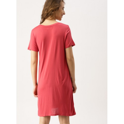 Dressberry Red Printed Shift Dress