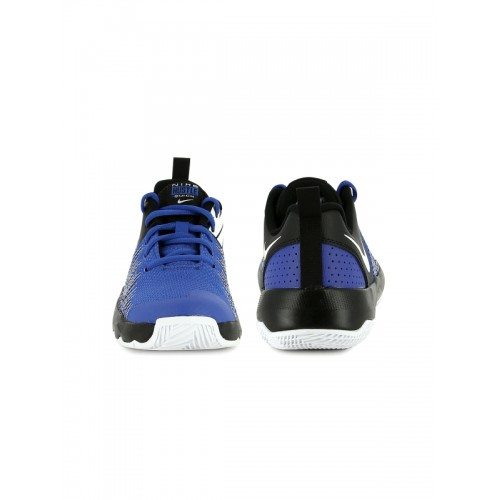 Nike Boys Blue & Black TEAM HUSTLE QUICK Basketball Shoes