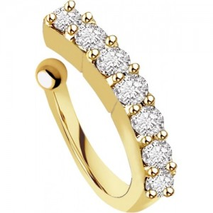Chandrika Pearls Crystal 18K Yellow Gold Plated Copper Nose Ring