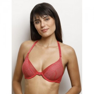 Zivame Red Lace Underwired Lightly Padded Everyday Bra ZI0101T00G00RED