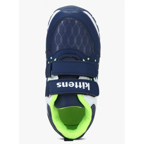 Kittens Boys Navy & White Printed Boat Shoes