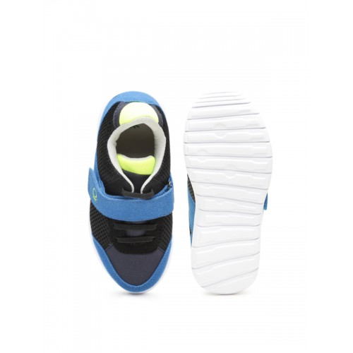 United Colors of Benetton Boys Black & Blue Sneakers