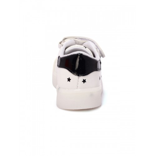 Walktrendy Kids White Printed Sneakers
