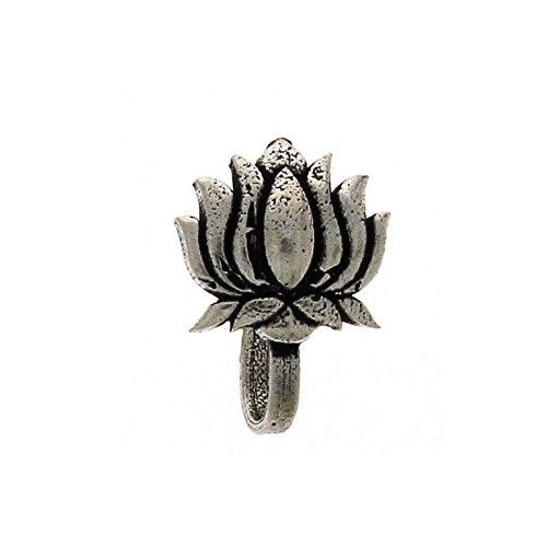 Sansar India Oxidised Silver Plated Press Nose Pin Combo (5 Pcs) for Women