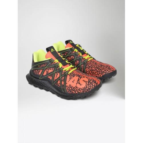 927c98ddb0bc3 Buy Adidas Kids Orange   Black Vigor Bounce J Running Shoes ...