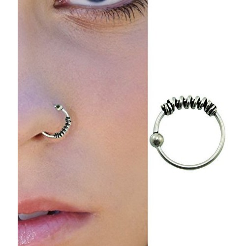 Buy Pcm Silver Nose Pin Plain Antique 92 5 Sterling Silver Nose