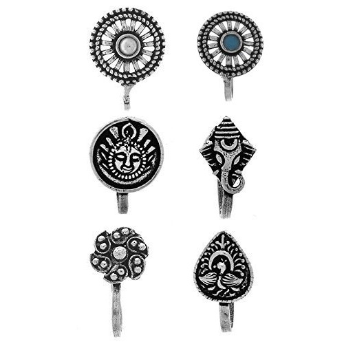 Anuradha Art Presenting Classy Wonderful Combo Press On Nose Ring/Pin For Women/Girls