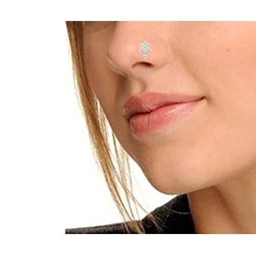 Buy Peenzone Rose Gold Flower Nose Stud For Women Girls Online