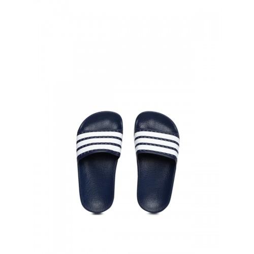 f93a3d933 Buy Adidas Originals Kids Navy   White Adilette C Flip-Flops online ...