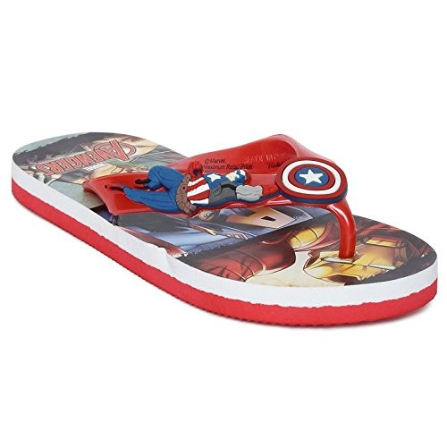 Marvel Boy's Captain America Flip-Flops