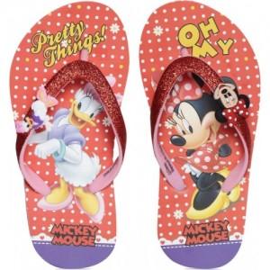 Minnie Girls Slip On Slipper Flip Flop
