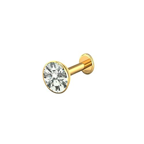 Buy Heartly 14k Pure Gold Nose Pin Stud For Womens Girls Online