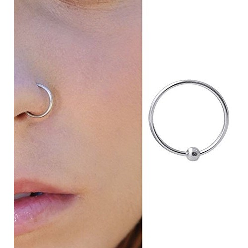 Buy Pcm Pure Sterling Silver Nose Pin For Women 92 5 Online