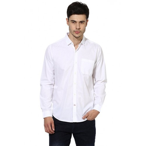 c146bfb756 Buy Red Chief Red Chief White Full Sleeves Regular Fit Shirt online ...