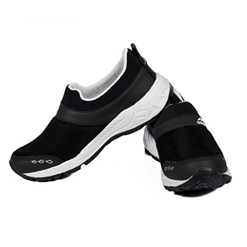 Asian Black Canvas Slip on Running Shoes