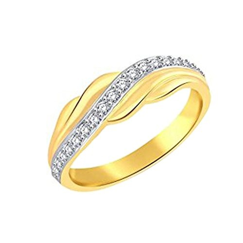 Vihdi Jewels Gold Plated Stylish Diamond Studded Brass Finger Ring for Women & Girls [VFR448G]