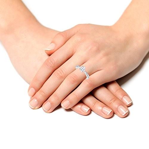 VK Jewels Princes Rhodium plated solitare Ring - FR1059R [VKFR1059R]