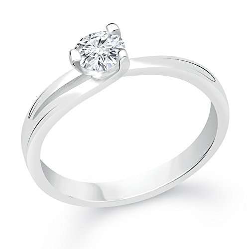 VK Jewels Solitaire Rhodium Plated Alloy CZ American Diamond Ring for Women [VKFR2392R]