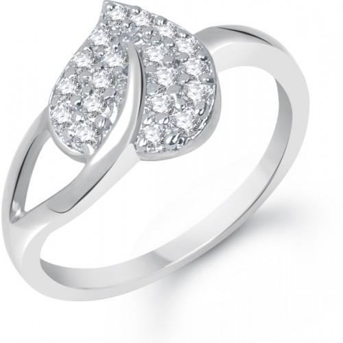 VK Jewels Cute Heart Alloy Cubic Zirconia Ring
