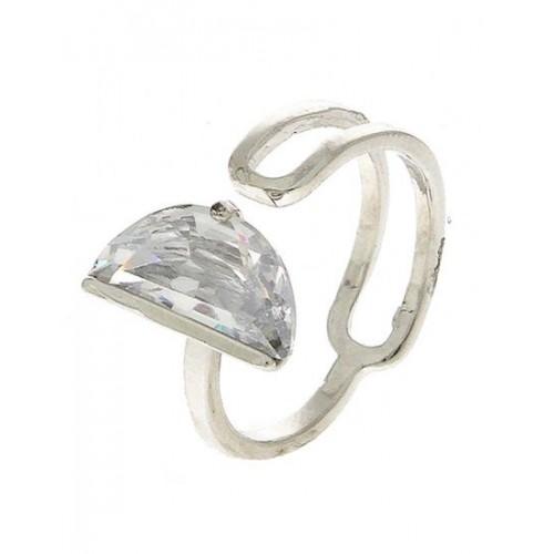 f9a2a2fd9 ... Anuradha Art Silver Finish Simple Stylish Designer American Diamonds  Stone Designer Finger Ring For Women/ ...