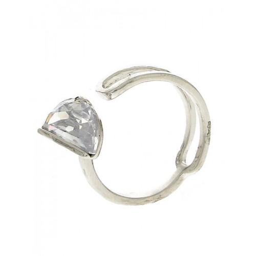 a41d0ff90 Anuradha Art Silver Finish Simple Stylish Designer American Diamonds Stone  Designer Finger Ring For Women/ ...
