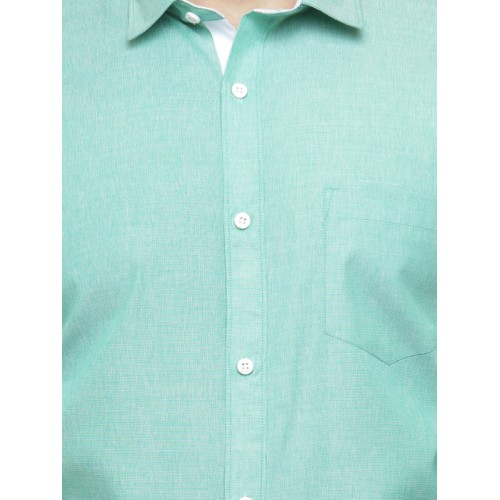 JAINISH Men Green Classic Slim Fit Solid Formal Shirt