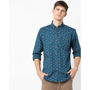 Wills Lifestyle Floral Print Slim Fit Shirt