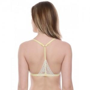 Da Intimo Yellow Lace Non-Wired Non Padded Bralette DI-822