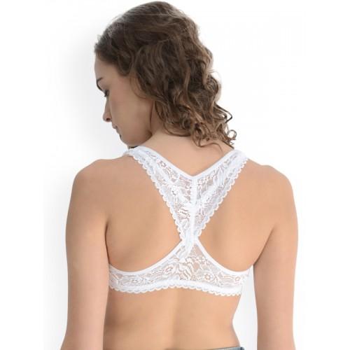 Da Intimo White Lace Bralette DI-754