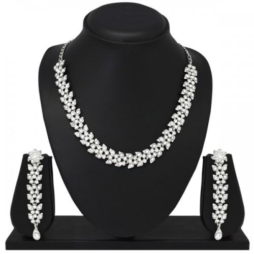 Atasi International Alloy Silver  Jewel Set