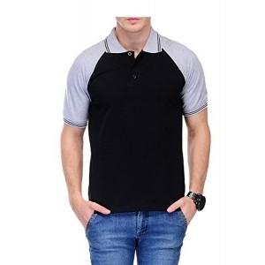 Scott Black Polo T-Shirt for Men