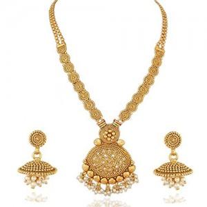 d1d7a3b38ac7c Buy Voylla Opulent Gold Plated Sanskriti Necklace Set online ...
