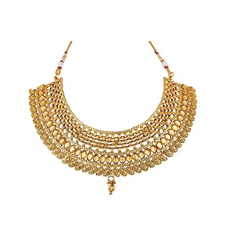 Apara Gold Lct Copper Choker Necklace Set With Maang Tikka Jewellert Set For Women
